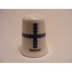 Viool afgebeeld op een porselein vingerhoedje