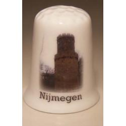 Je eigen digitale foto tekst of logo op een porselein vingerhoedje