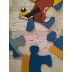 Teaspoon with combi bus yellow print