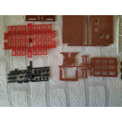 Dolphins with shell and water plants