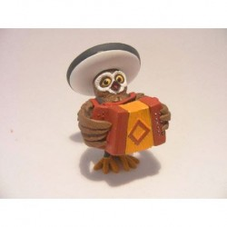 Owl with accordion of rubber