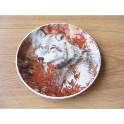 Wolf afbeelding op een wandbord