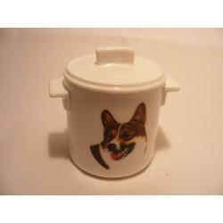 Suikerpotje van porselein met een Welsh Corgi hond afbeelding