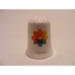 Apple icoon photos afbeelding op een porselein vingerhoedje