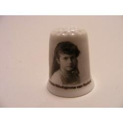 Anastasia Nikolajevna van Rusland op een porselein vingerhoedje
