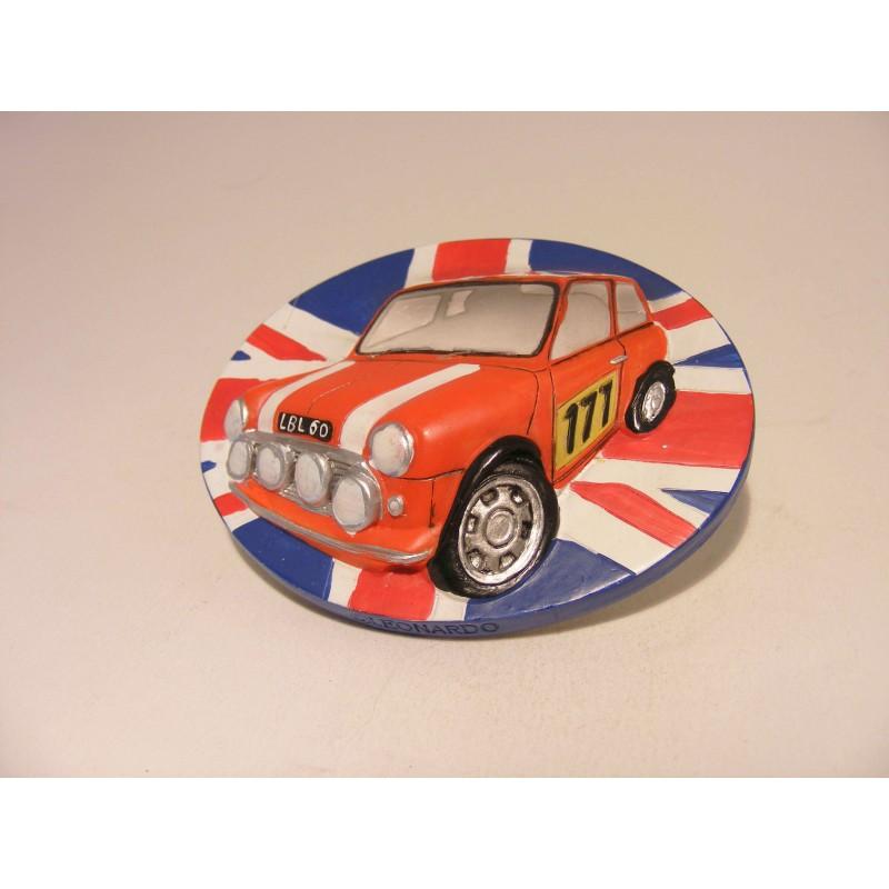 Mini Cooper 3D keukenmagneetje The leonardo collection rood