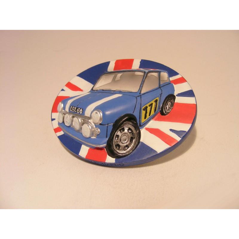 Mini Cooper 3D keukenmagneetje The leonardo collection blauw