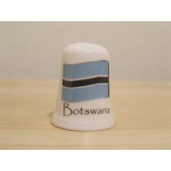 Vlag Botswana op een porselein vingerhoedje