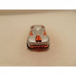 Opel Tigra Tins Toys 1:38 zilverkleurig